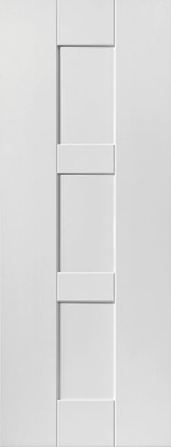 Geo Door: 3-Panel White Primed 35mm Internal Door - JB Kind White Shaker Doors