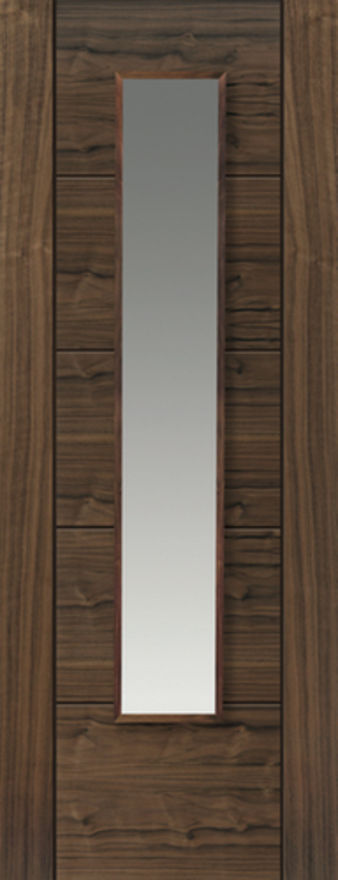 Emral Glazed Walnut Internal Door