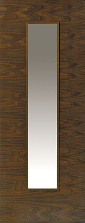 Franquette 1-light Glazed Walnut Internal Door