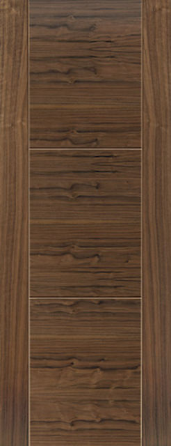 Mistral Fire Door: FD30 V-Groove *Walnut Veneer* 44mm Internal Fire Door - JB Kind Walnut Doors