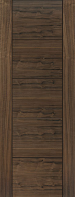 Tigris Door: V-Groove *Walnut Veneer* 35mm Internal Door - JB Kind Walnut Doors