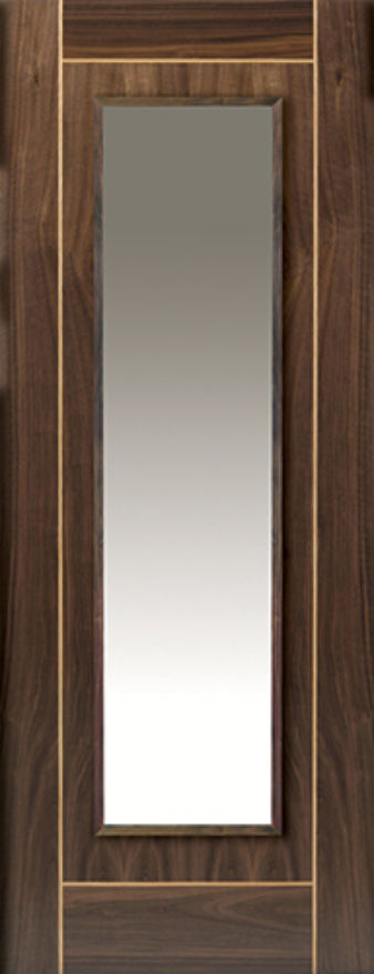 Valcor 1-light Glazed Walnut Internal Door