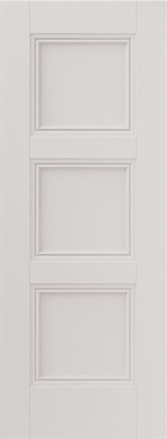 Catton Fire Door: FD30 3-Panel White Primed 44mm Internal Fire Door - JB Kind White Classic Fire Doors