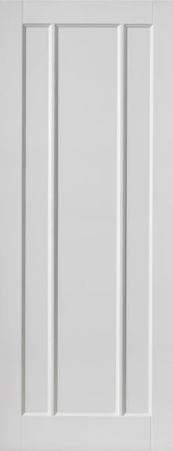JAMAICA DOOR: 3-Panel White Primed 35mm Internal Door - JB Kind Calypso Doors