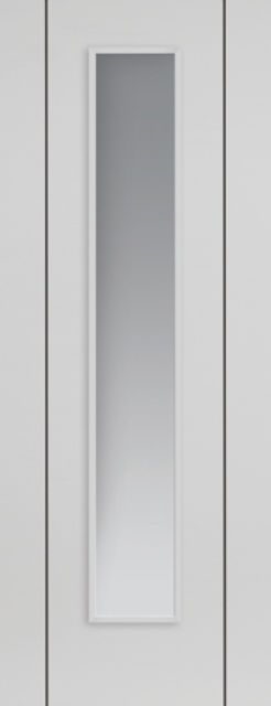 Parelo Glazed Door: 1-light Glazed Flush Satin White 35mm Internal Pre-Finished - JB Kind White Contemporary Doors