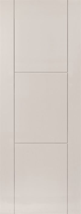 JBK V-groove 3-Panel Mistral White Primed Internal Door