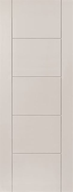Tigris Fire Door: FD30 Flush White Primed 44mm Internal Fire Door - JB Kind White Contemporary Fire Doors
