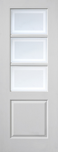 ANDORRA Glazed DOOR: 3-light *EG* White Woodgrain 35mm Internal Door - JB Kind Doors