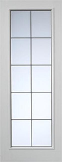 DECIMA Glazed DOOR: 10-light *CBG* White Woodgrain 35mm Internal Door - JB Kind Doors