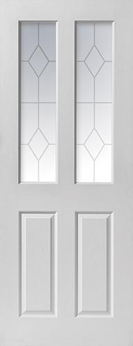 Canterbury Glazed White Moulded Jb Kind Door