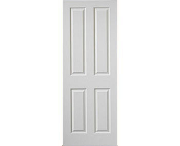 Canterbury 4-Panel White Woodgrain Internal Door