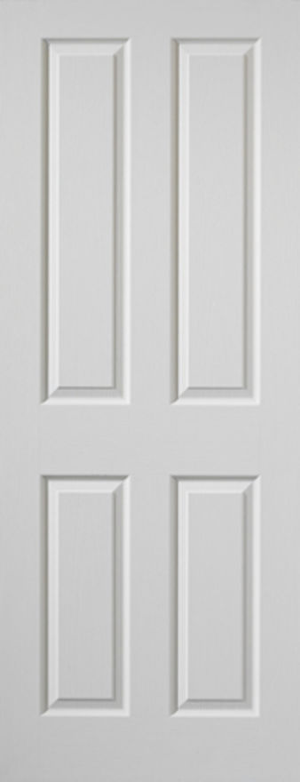 Canterbury 4-Panel White Moulded Internal Door