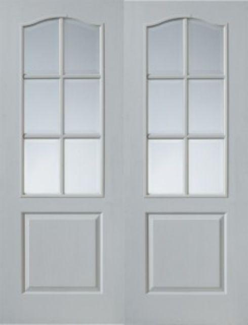 Classique 6-light Glazed White Moulded Pair Doors  sc 1 st  JAS Timber & Classique Glazed White Moulded JB Kind Pair Doors pezcame.com