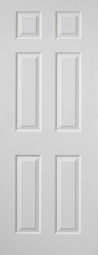 Colonist 6-Panel White Moulded Door
