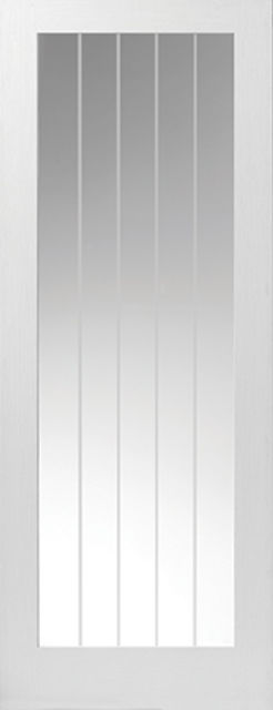 COTTAGE 5 Glazed DOOR: 1-light Glazed White Woodgrain 35mm Internal Door - JB Kind Doors