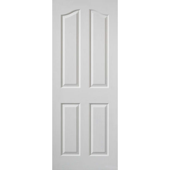 EDWARDIAN DOOR: 4-Panel White Woodgrain 35mm Internal Door - JB Kind Doors