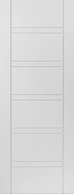 Imperial Fire Door: FD30 Flush White Primed 44mm Internal Fire Door - JB Kind White Contemporary Doors