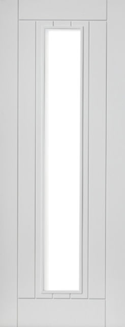 PHOENIX Glazed DOOR: 1-light *Clear Safety Glass* White Primed 35mm Internal Door - JB Kind Limelight Doors