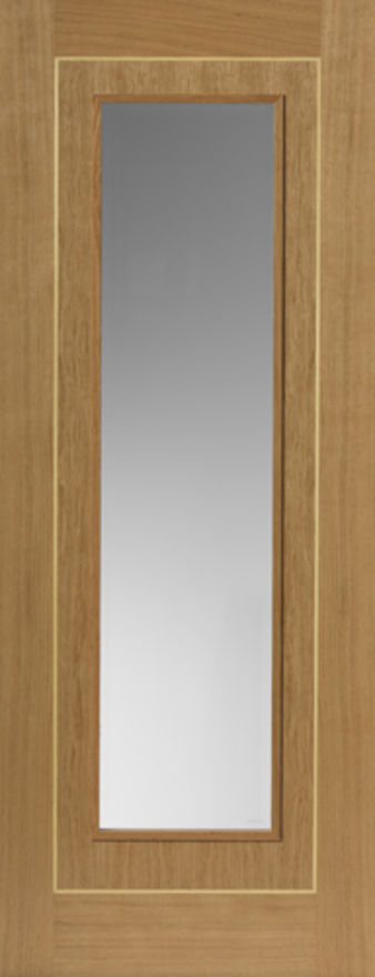 Minerva Glazed Oak Internal Door