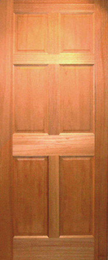 JA Hardwood Colonial 6 panel solid Internal Door