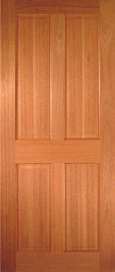 JA Hardwood Victorian 4 panel solid Internal Door