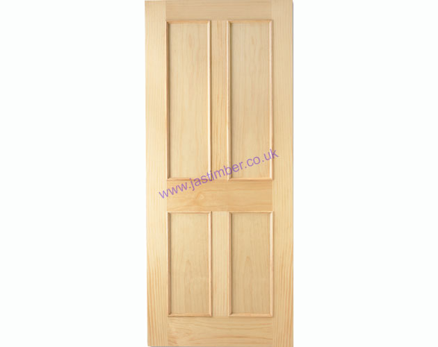 4P Victorian Clear Radiata Pine +Raised Mouldings + Internal Door - LPD Doors
