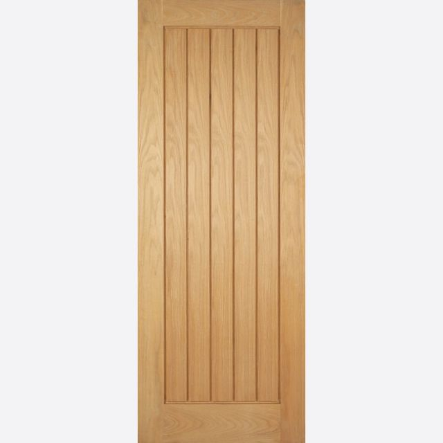 Mexicano Fire Door: FD30 T&G-effect Pre-Finished Oak 44mm Internal Firecheck - LPD Modern Oak Fire Doors