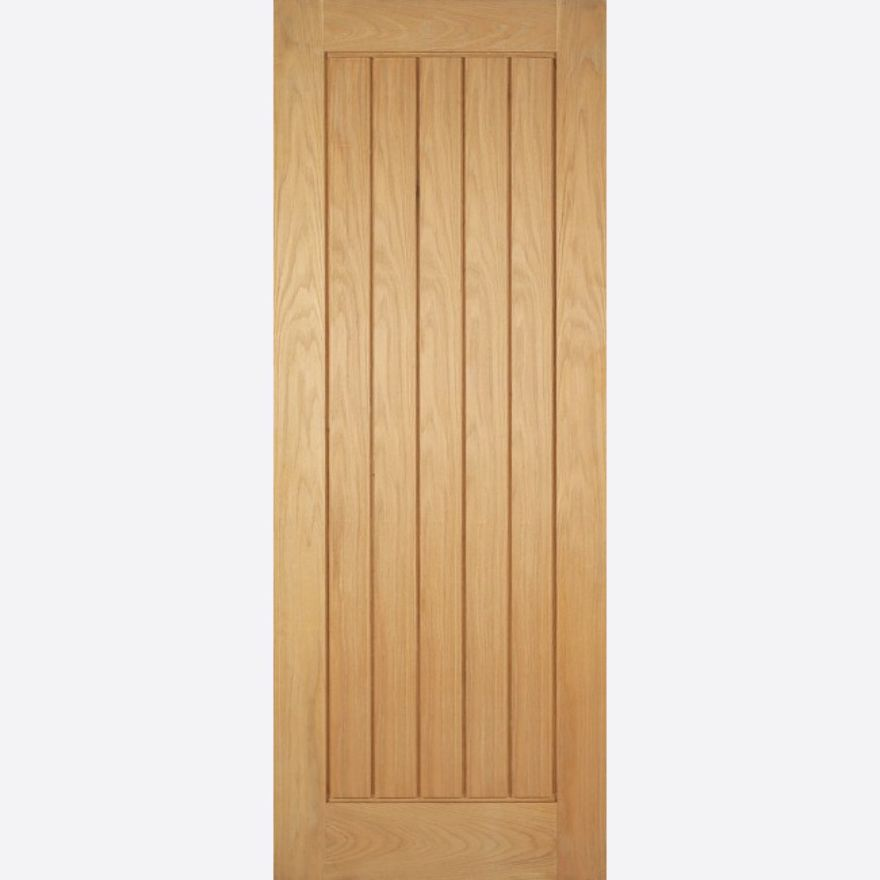 Mexicano Fire Door: FD30 T&G effect *Unfinished Oak* 44mm Internal Fire Door - LPD Modern Oak Fire Doors