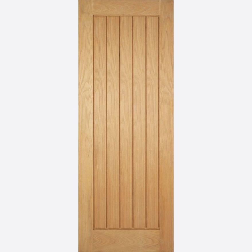 Mexicano Door T\u0026G Effect *Unfinished Oak* 35mm Internal - LPD Modern Oak Doors & Mexicano Tongued \u0026 Grooved Oak Internal Door