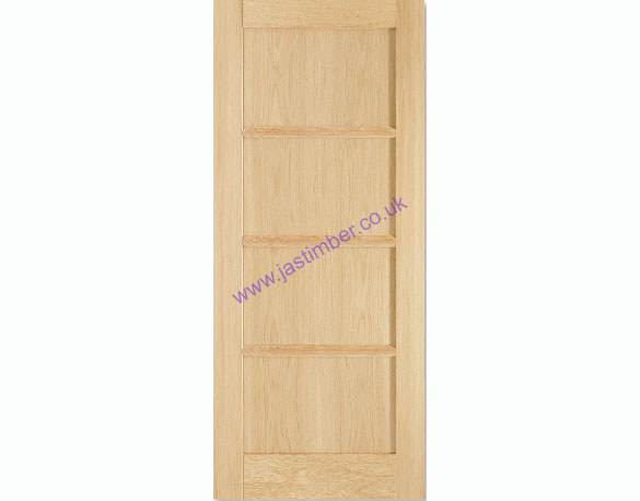 Oslo 4-Panel Oak Internal Pre-Finished Door - LPD