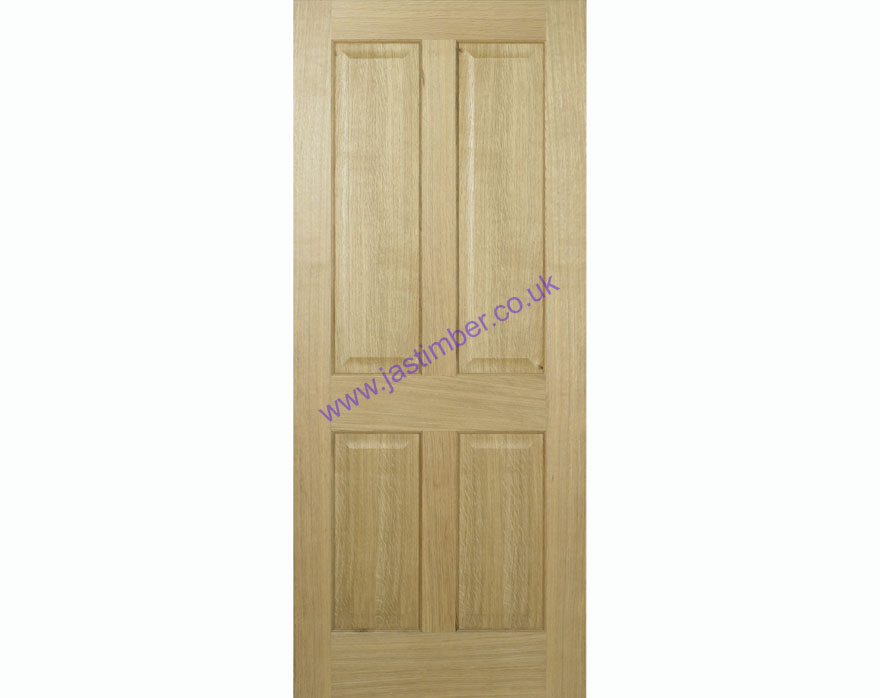 Regency FD30 4-Panel Oak Internal Fire Door - LPD Door