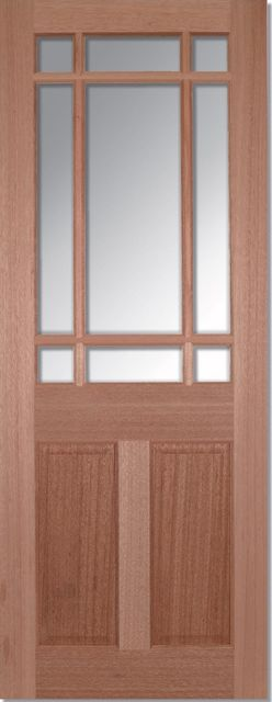 DOWNHAM Glazed DOOR: 9-light *CBG* [Hardwood] 35mm Internal Dowel Door - LPD Doors