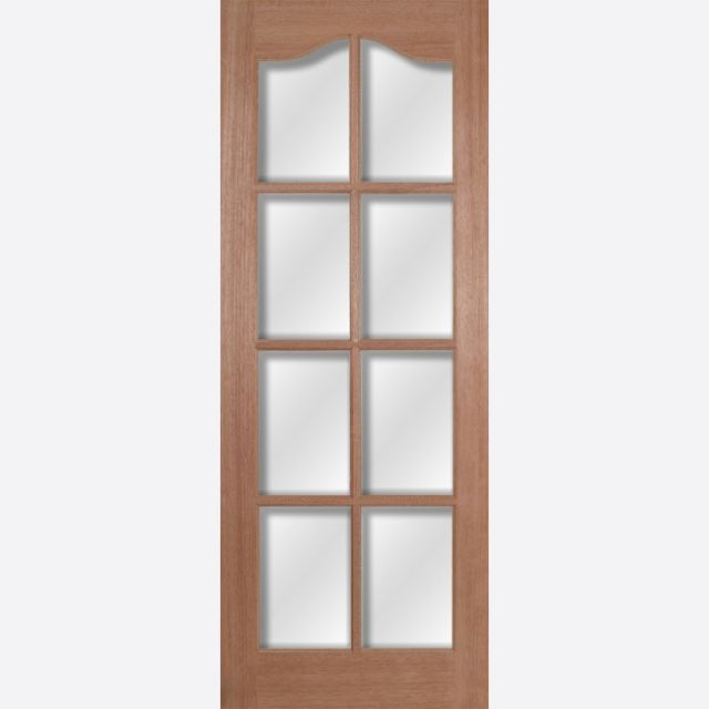 Hamlet Glazed Door: 8-light *Clear Bevelled Glass* [Hardwood] 35mm Internal Dowel Door - LPD Essentials Doors