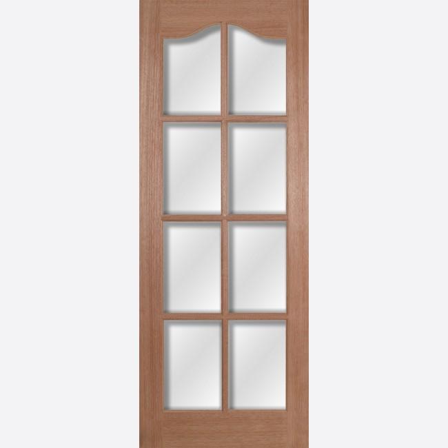Hamlet Glazed Door 8-light *Clear Bevelled Glass* [Hardwood] 35mm Internal Dowel Door - LPD Essentials Doors & Hamlet Glazed Hardwood LPD Doors