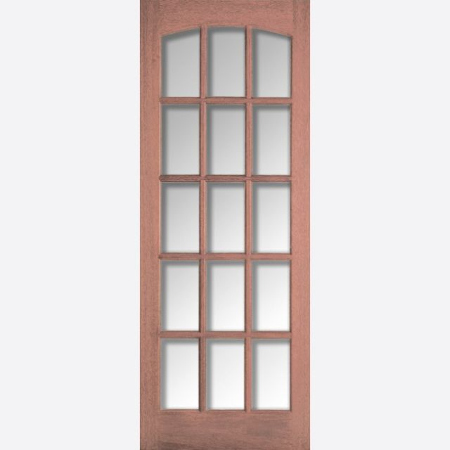 Imperial Glazed Door: 15-light *CBG Glazed* Arched-top [Hardwood] Internal Dowel Door - LPD Essentials Doors
