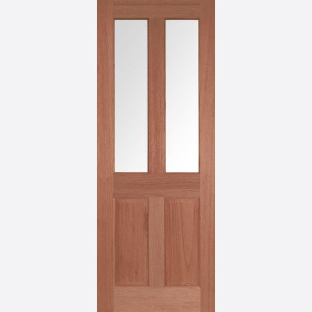 Malton Glazed Door: 2-light *CBG Glazed* [Hardwood] 35mm Internal Dowel Door - LPD Essentials Doors