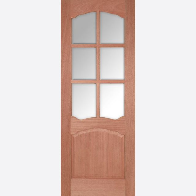 Riviera Glazed Door: 6-light *CBG Glazed* [Hardwood] 35mm Internal Dowel Door - LPD Essentials Doors