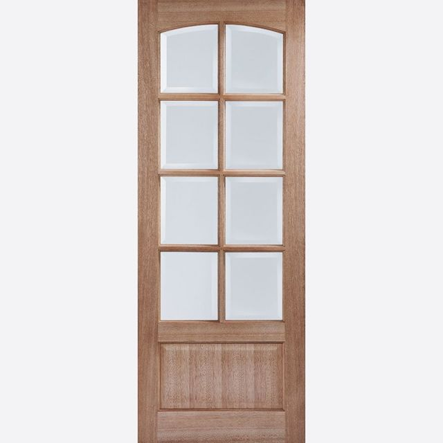 Worthing Glazed Door: 8-light *CBG Glazed* [Hardwood] 35mm Internal Dowel Door - LPD Essentials Doors