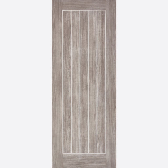 Mexicano Fire Door: FD30 T&G Effect *Pre-Finished Light Grey Laminate* 44mm Internal Fire Door - LPD Laminate Fire Doors