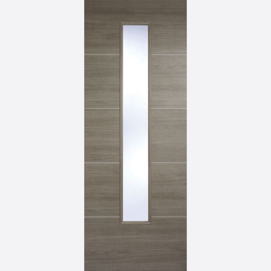 Santandor Glazed Light Grey Laminated Door