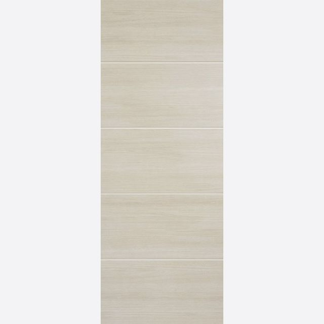 Santandor Fire Door: FD30 Flush *Pre-Finished Ivory Laminate* 44mm Internal Fire Door - LPD Laminate Fire Doors