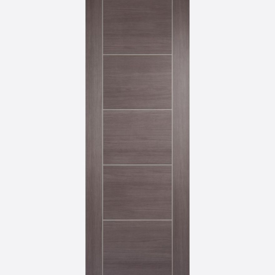 Vancouver Fire Door: FD30 Flush *Pre-Finished Medium Grey Laminate* 44mm Internal Fire Door - LPD Laminate Fire Doors