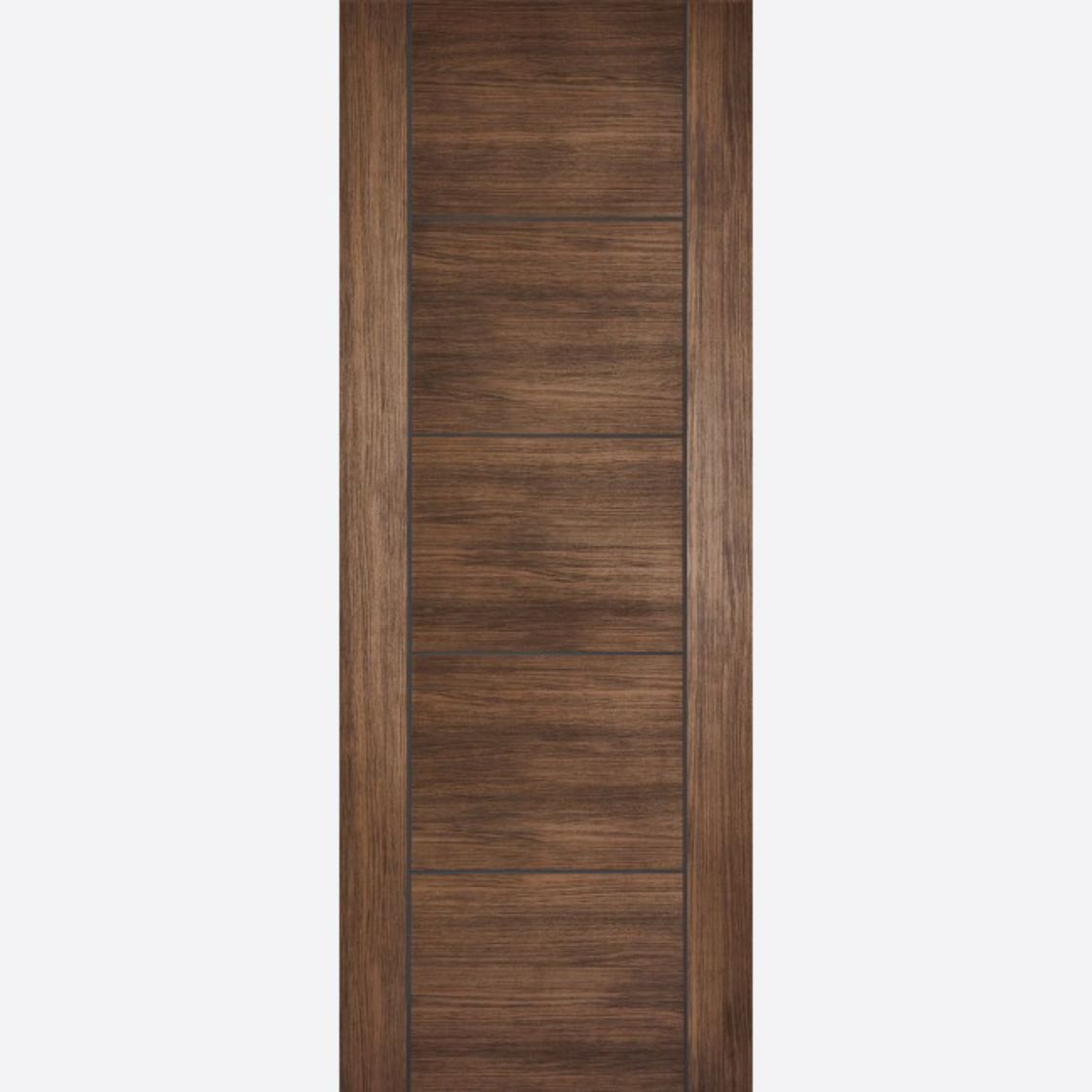 Vancouver Fire Door: FD30 Flush *Pre-Finished Walnut Laminate* 44mm Internal Firecheck - LPD Laminate Fire Doors