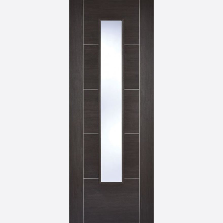 Vancouver Glazed Dark Grey Laminated Door