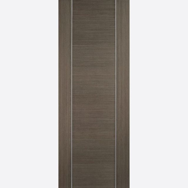 Alcaraz Door: Flush *Pre-Finished Chocolate Grey* 35mm Internal Door - LPD Colour Doors