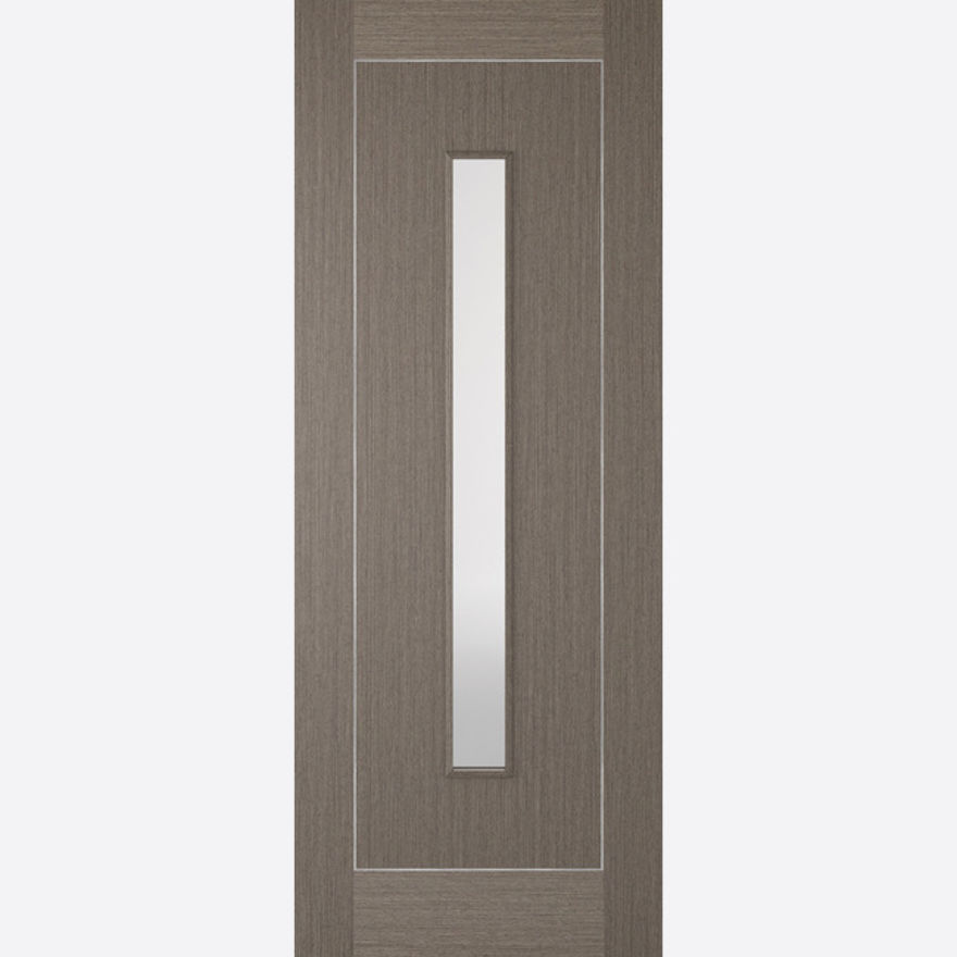 Inlay Glazed Chocolate Grey Door