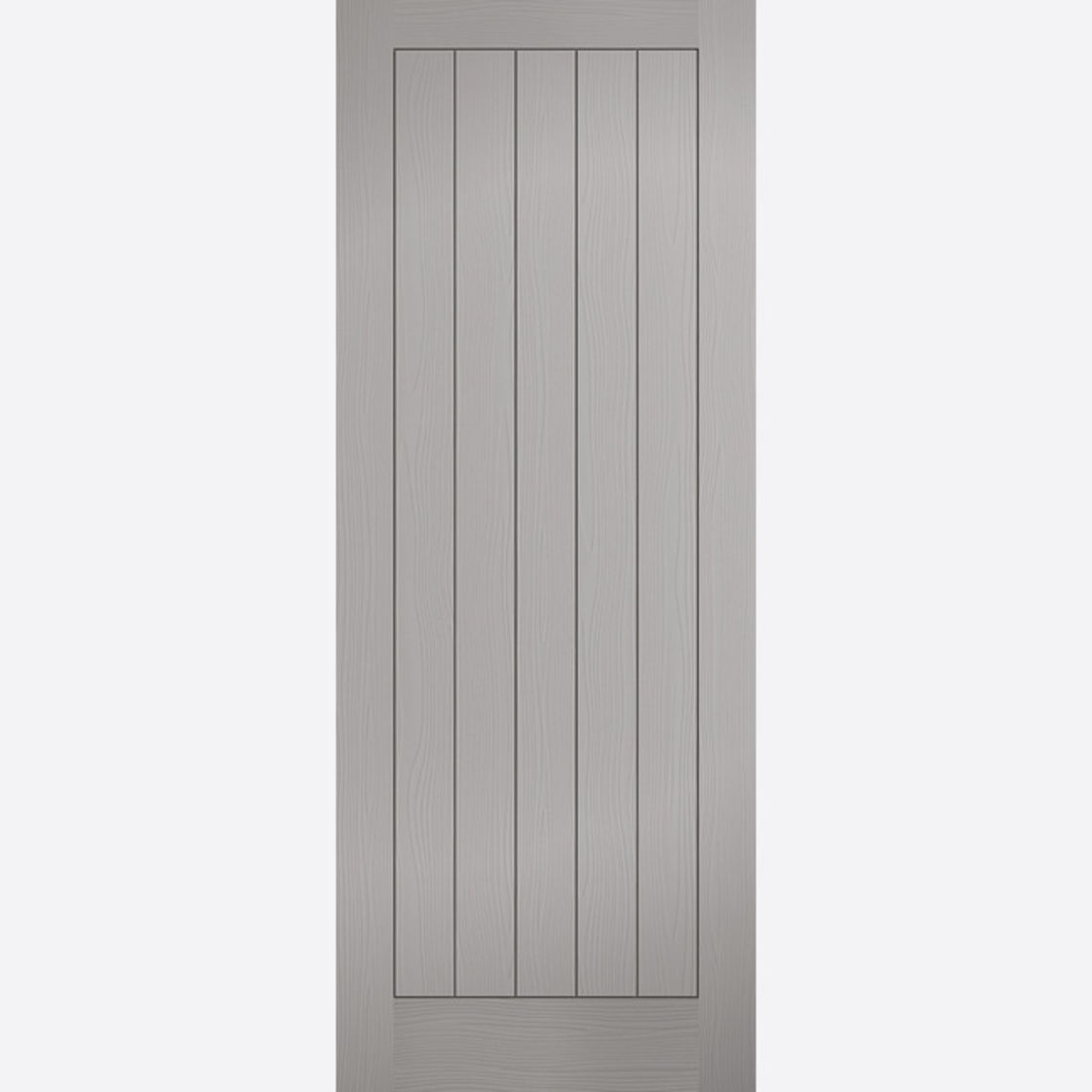 Textured Vertical 5P Grey Moulded Door