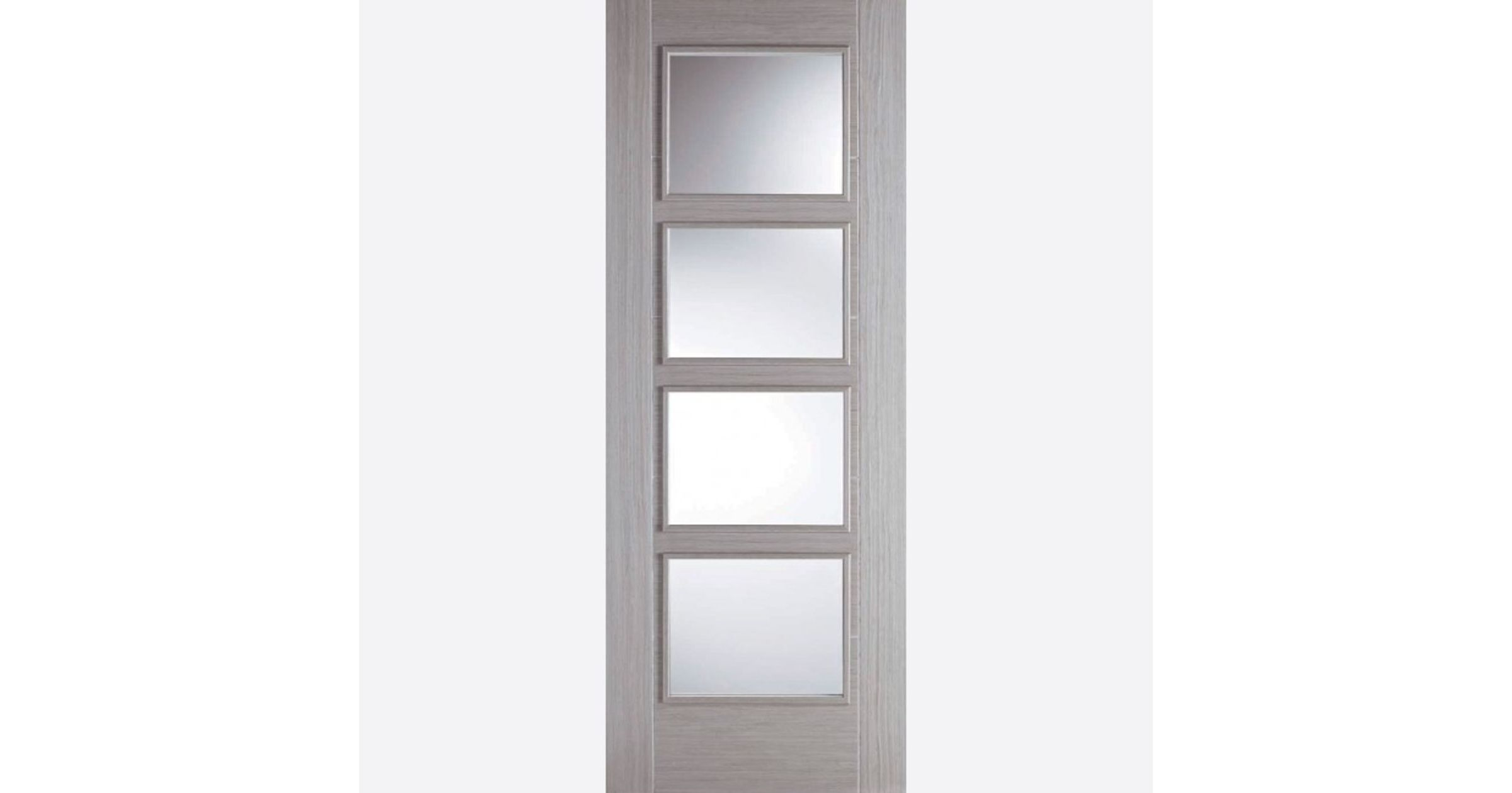Vancouver Glazed Door: 4-light *Clear Glazed* *Pre-Finished Light-Grey* 35mm Internal Door - LPD Colour Doors