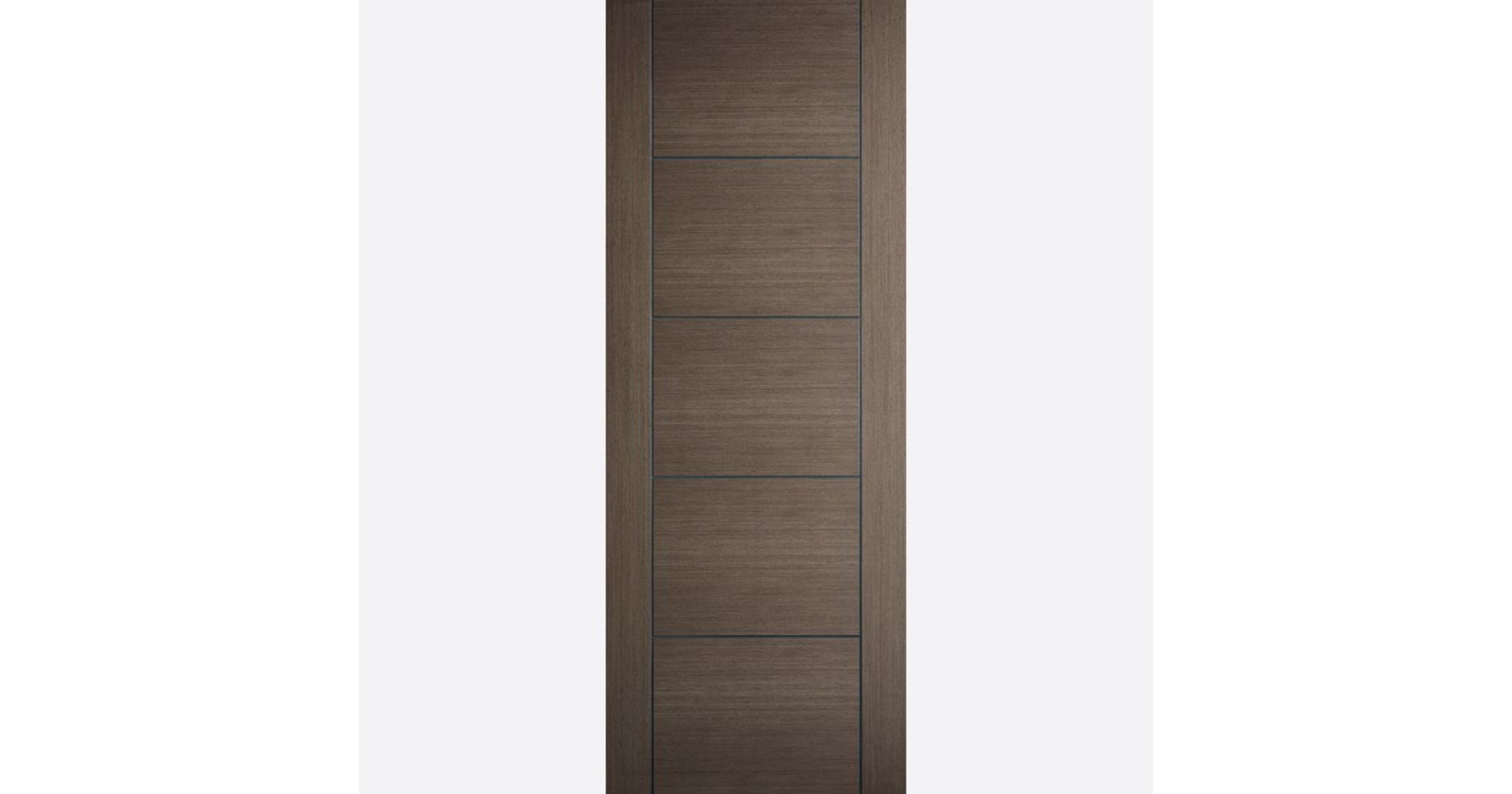 Vancouver Fire Door FD30 Flush *Pre-Finished Chocolate-Grey* 44mm Internal & LPD Colours Real-Veneer Internal Fire Doors | JAS Timber