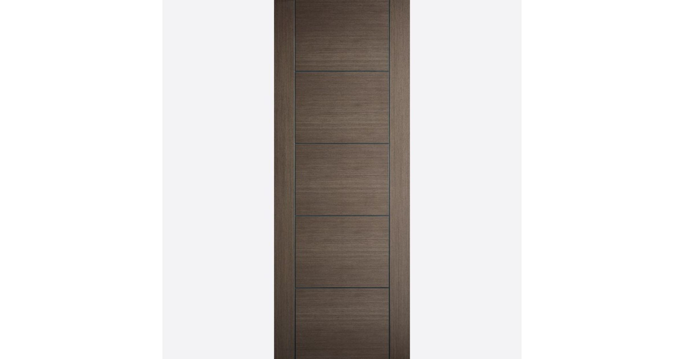 Vancouver Fire Door FD30 Flush *Pre-Finished Chocolate-Grey* 44mm Internal & LPD Colours Real-Veneer FD30 Fire Doors | JAS Timber